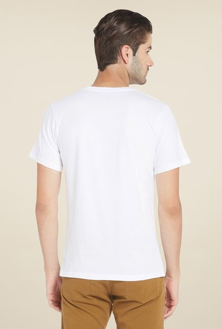 Globus White Graphic Print T Shirt