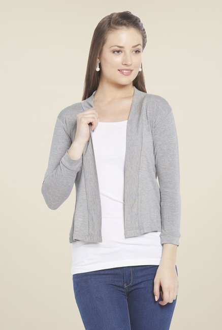Globus Grey Solid Shrug