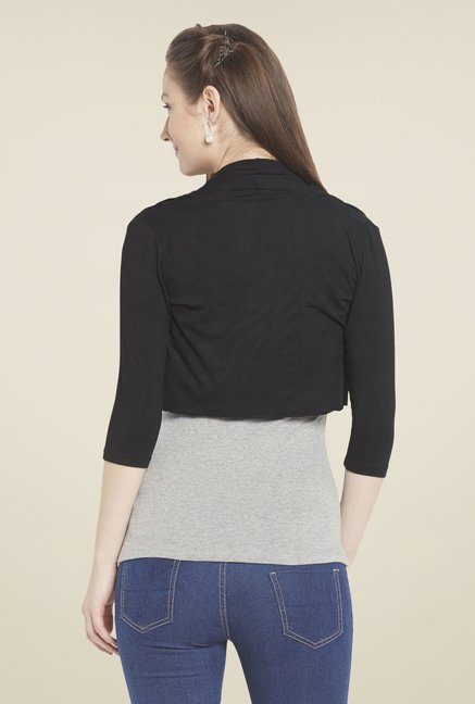 Globus Black Solid Shrug