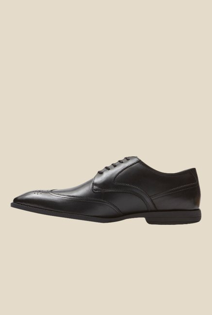 Rockport Global Road Black Derby Shoes