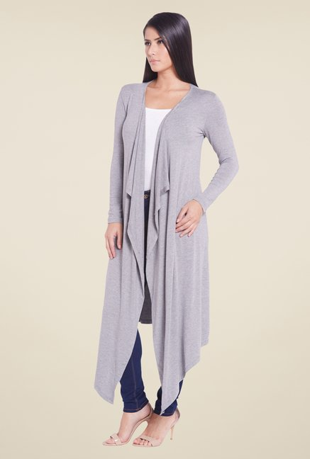 Globus Grey Solid Denim Shrug