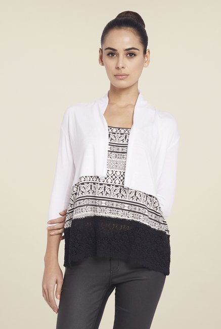 Globus White Solid Shrug