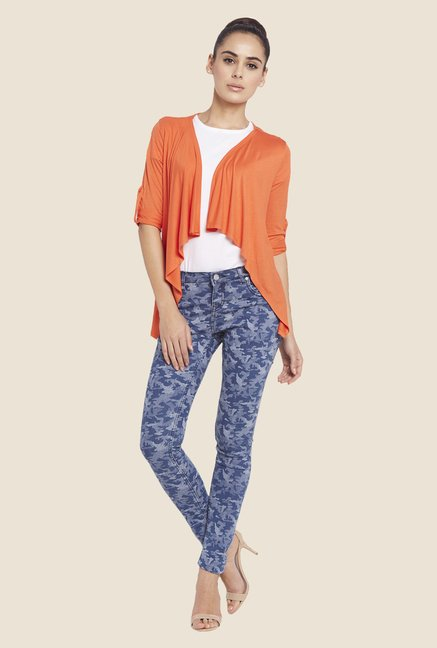 Globus Orange Solid Shrug