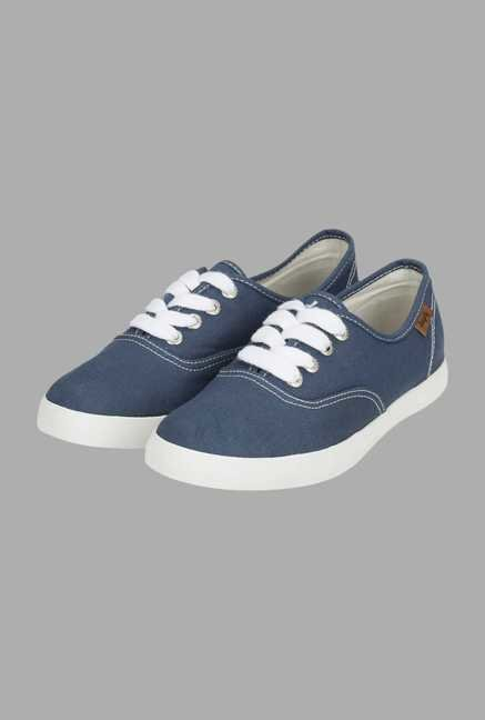 Deeply Blue Canvas Sneakers