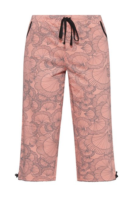 Intima by Westside Pink Shell Printed Capri