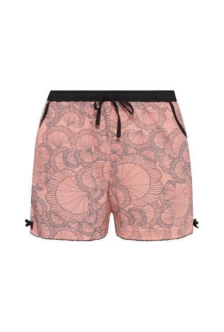 Intima by Westside Pink Shell Printed Shorts