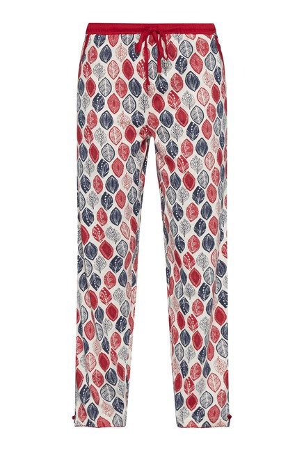 Intima by Westside Off White Leaf Printed Pyjama
