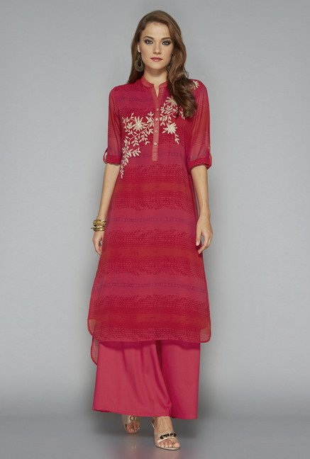 Vark by Westside Red Printed Suit Set