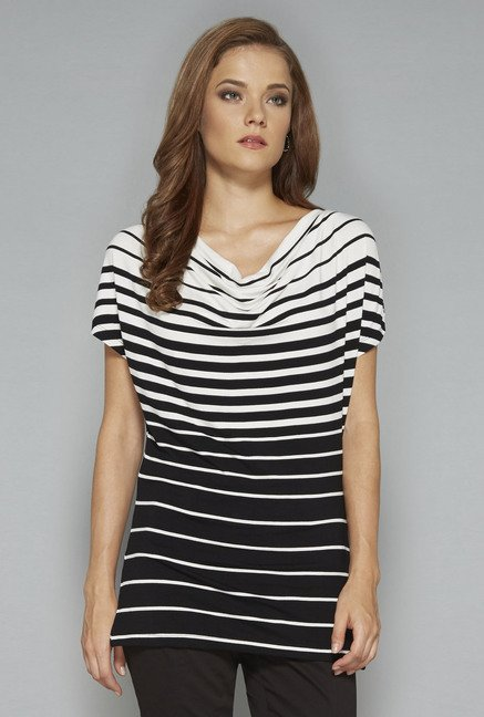 Wardrobe by Westside Black Striped Top