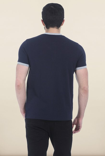 Basics Dress Navy Henley T Shirt