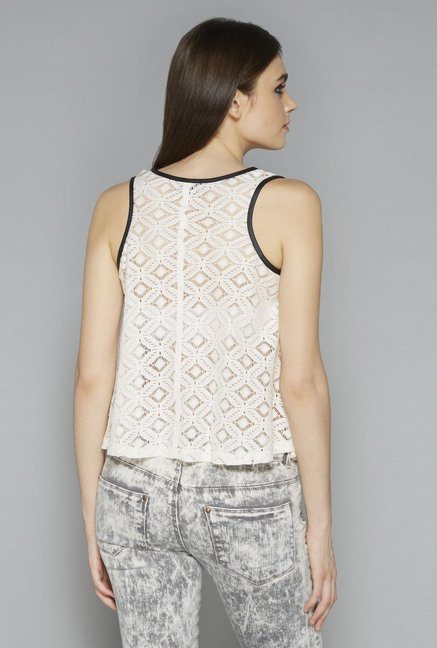 Nuon by Westside White Printed Vest