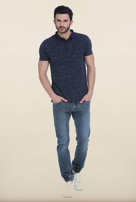 Basics Drizzling Navy Polo T Shirt