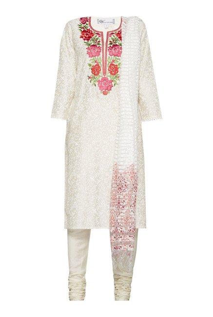 Vark by Westside White Floral Print Suit Set
