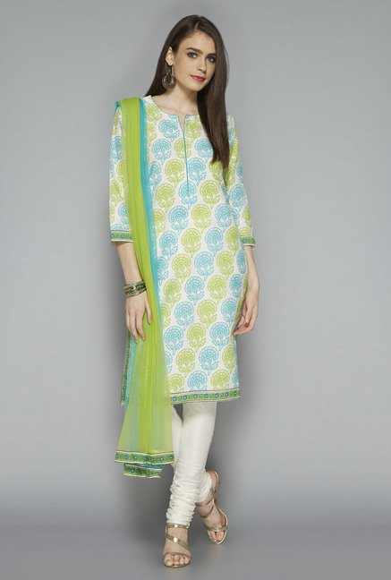 Vark by Westside White Printed Suit Set