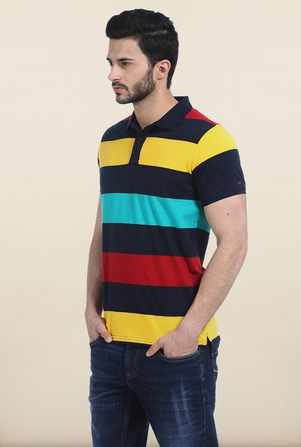 Basics Dress Multicolor Rugby Polo T Shirt