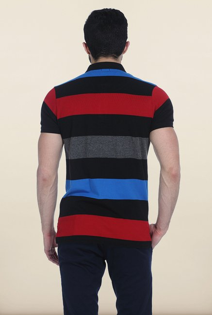 Basics Multicolor Rugby Polo T Shirt