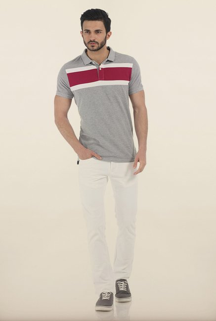 Basics Heather Grey Polo T Shirt