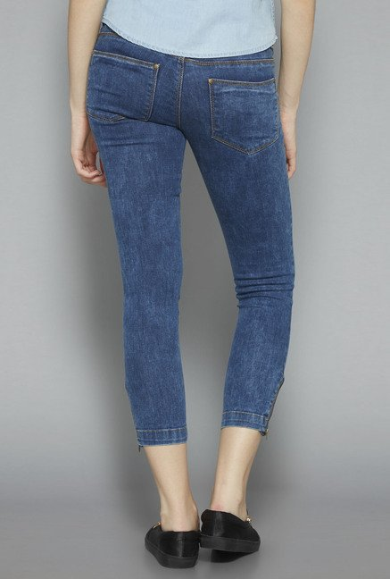 Nuon by Westside Dark Blue Skinny Fit Jeans