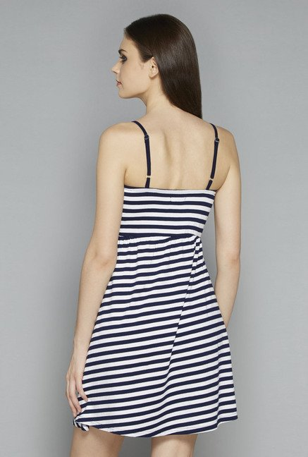 Nuon by Westside Navy Striped Dress
