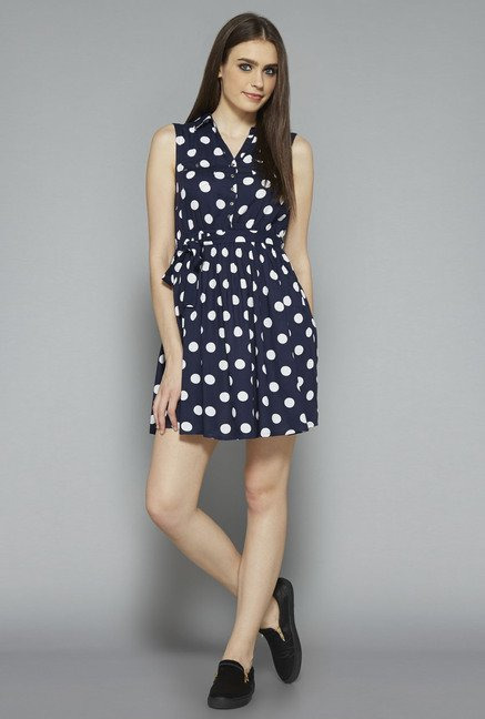 Nuon by Westside Navy Polka Dot Dress