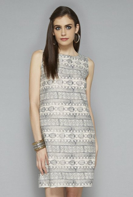 Bombay Paisley by Westside Off White Printed Dress