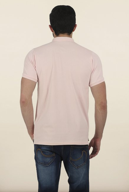 Basics Seashell Pink Lycra Polo T Shirt