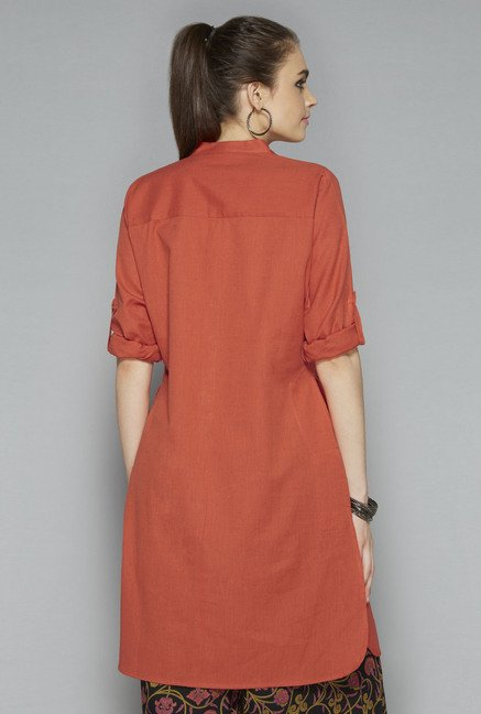 Utsa by Westside Red Solid Kurti