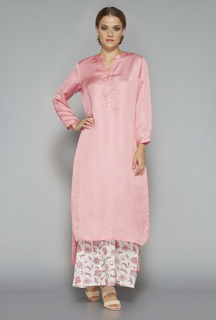 Zuba by Westside Pink Solid Kurta