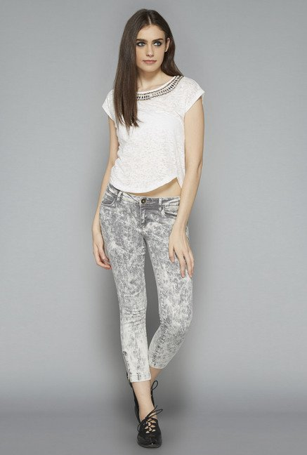 Nuon by Westside White Printed Blouse