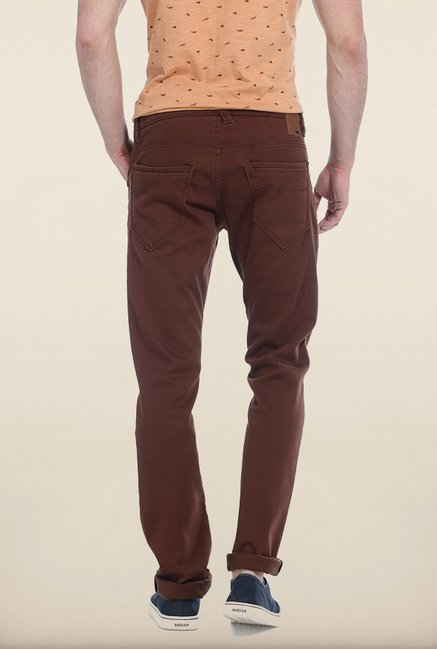 Basics Skinny Fit Cappuccino Ladder Twill Stretch Trouser