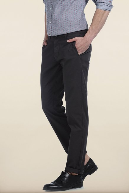 Basics Tapered Fit Castle Rock Slub Twill Cotton Trouser