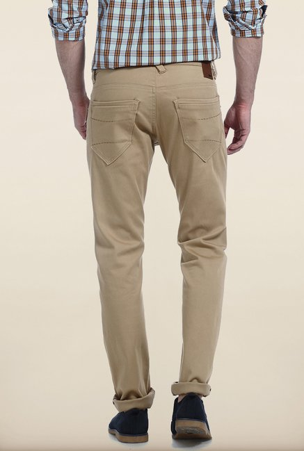 Basics Skinny Fit Wood Thrush Ladder Twill Stretch Trouser