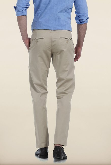 Basics Tapered Fit Antique Bronze Cotton Trouser