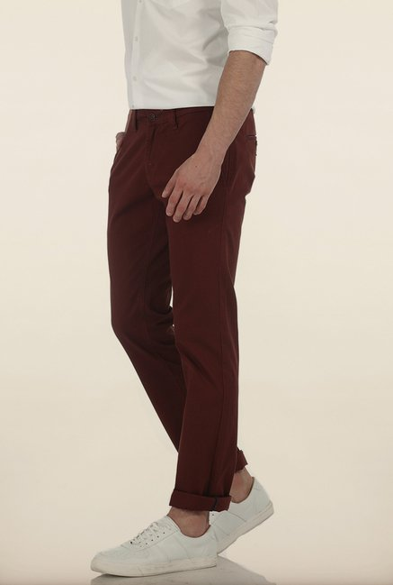 Basics Skinny Fit Dobby Structure Stretch Trouser