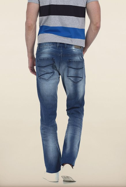 Basics Torque Fit Stone Wash Blue Stretch Jeans
