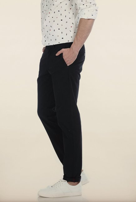 Basics Tapered Fit Phantom Black Twill Stretch Trouser