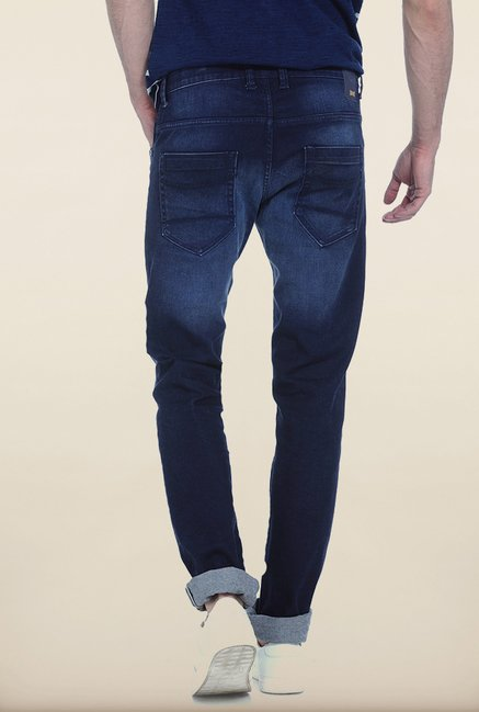 Basics Torque Fit Dark Blue Stretch Jeans
