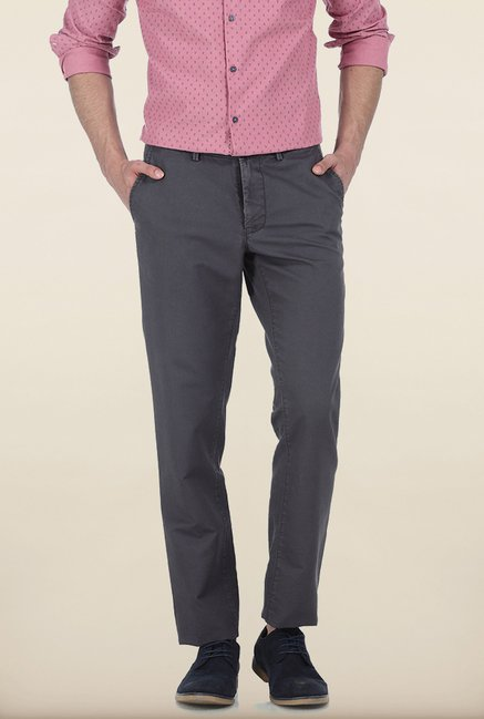 Basics Slim Fit Quiet Shade Dobby Structure Cotton Trouser
