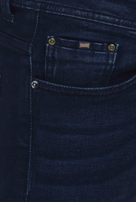 Basics Blade Fit Dark Blue Stretch Jeans