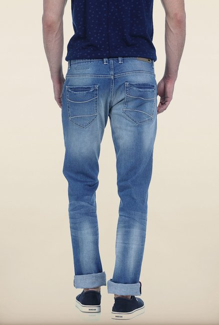 Basics Torque Fit Cloud Blue Stretch Jeans