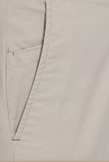 Basics Tapered Fit Grey Stone Peached Twill Stretch Trouser