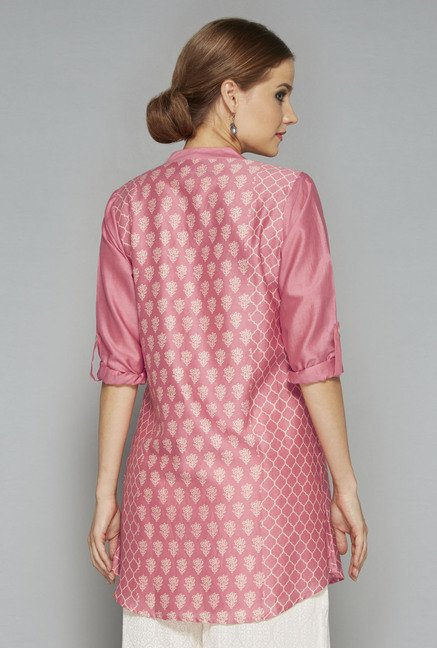 Zuba by Westside Pink Printed Kurti