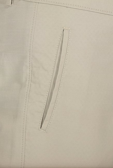 Basics Tapered Fit Whitecap Stone Slub Twill Cotton Trouser