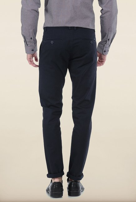 Basics Tapered Fit Jet Set Dobby Peached Stretch Trouser