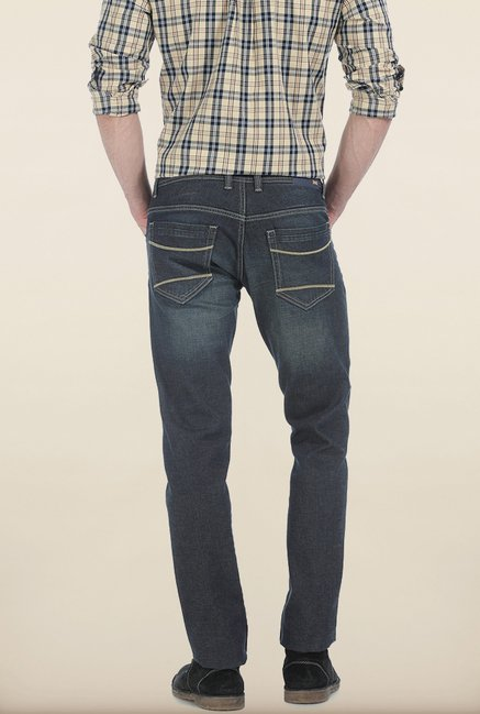 Basics Drift Fit Sand Storm Navy Stretch Jeans