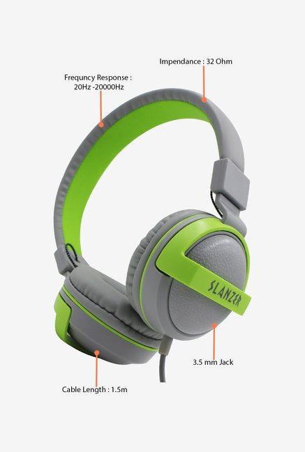 Slanzer SZH N221GY On the Ear Headphone (Grey)