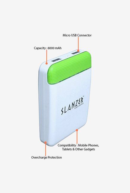 Slanzer SZP L112 8000 mAh Power Bank (White)
