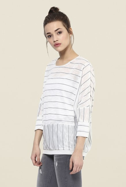 Femella White Striped Top