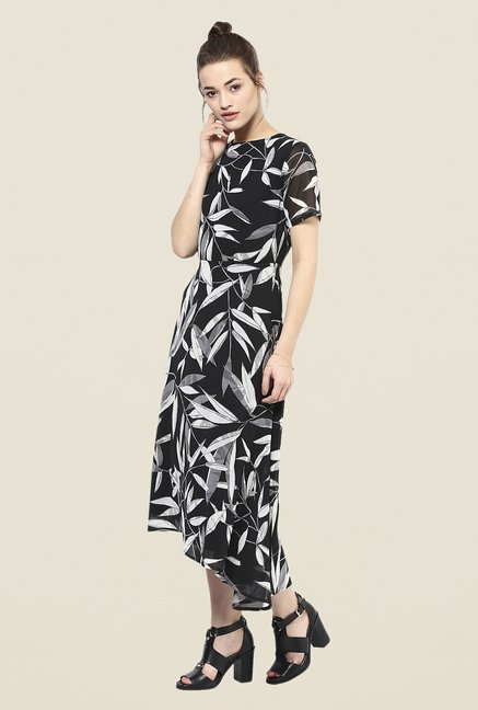 Femella Black Asymmetric Dress
