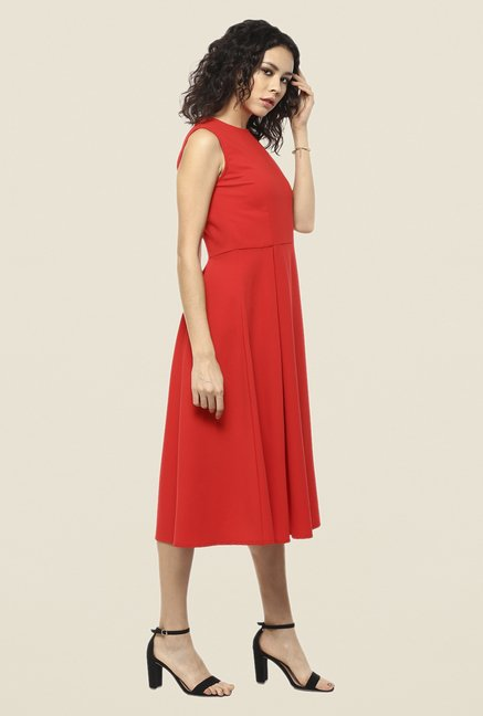 Femella Red A Line Dress